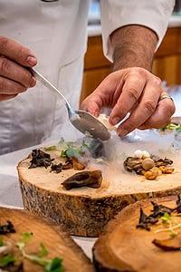 Dressage de plat gastronomique